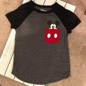 NWOT - Disney - Baseball Tee with Mickey Pocket